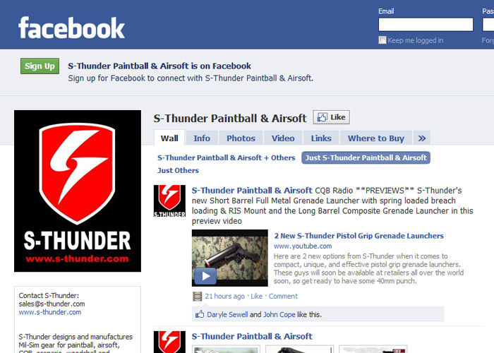 S-Thunder Facebook Page