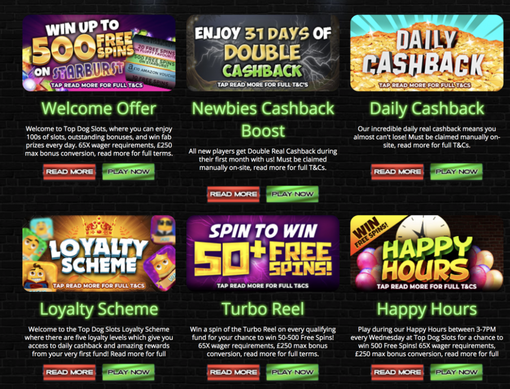 Top dog slots UK