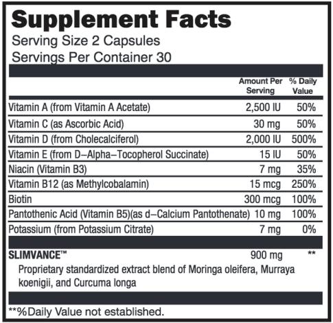 NatureThin ingredients