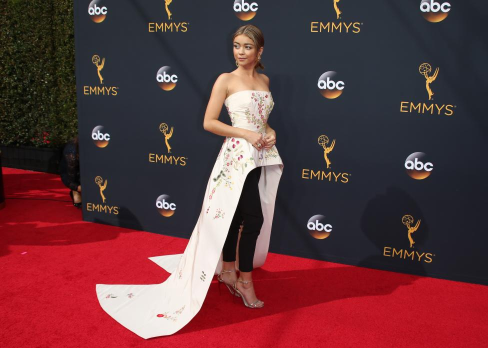 """Actress Sarah Hyland from the ABC series """"Modern Family"""". REUTERS/Lucy Nicholson"""