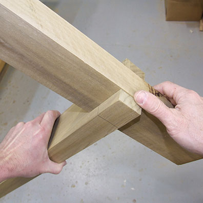 Adjust the depth of the notches or trim the bottom of leg so the foot ...