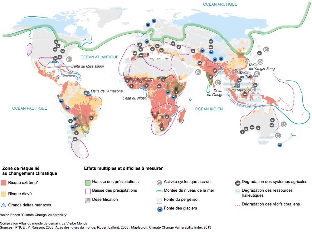 Monde - risques climatiques