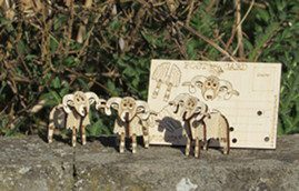 animlas - Pop Up 3D Wood Gift Cards - Designed & Made in Scotland