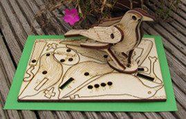 birds - Pop Up 3D Wood Gift Cards - Designed & Made in Scotland