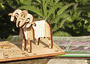 animals - Pop Up 3D Wood Gift Cards - Designed & Made in Scotland
