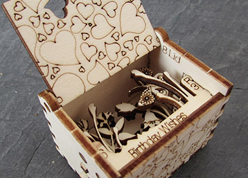 box - Pop Up 3D Wood Gift Cards - Designed & Made in Scotland