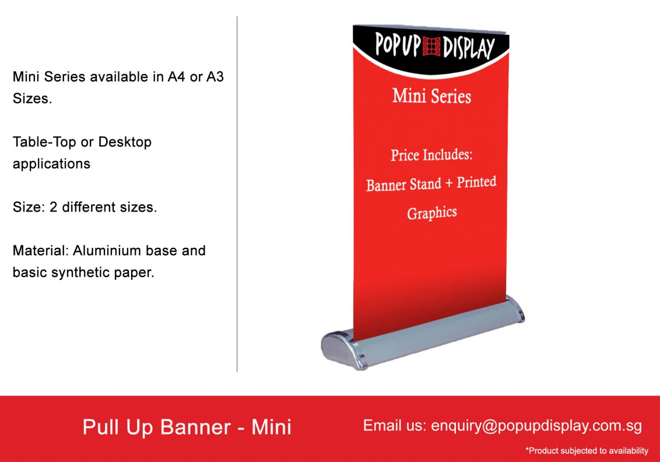 Pull Up Banner Pull Up Stand Roll Up Standee Singapore