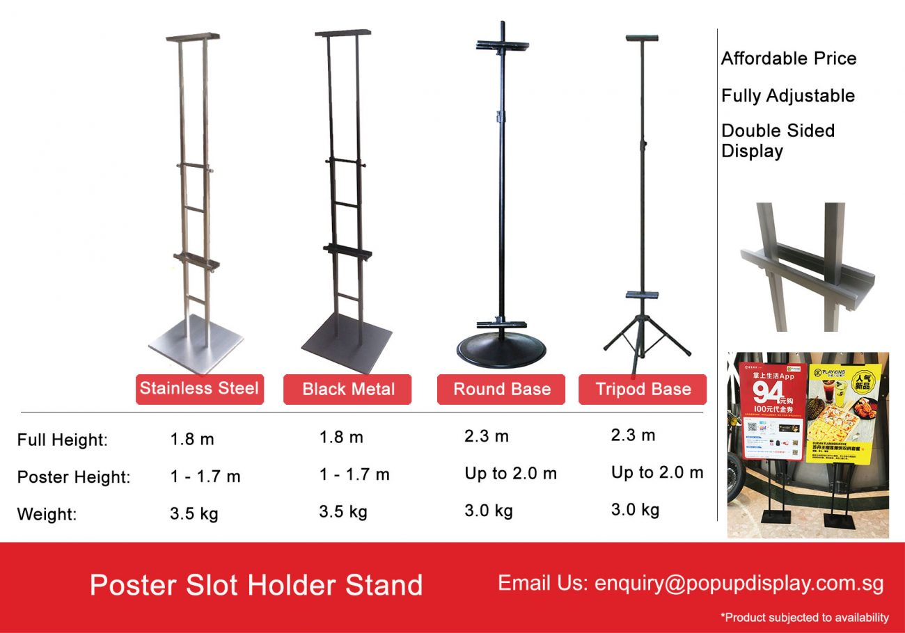 Poster Slot Stand