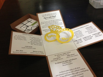 Two Rings Wedding Pop Up Invite