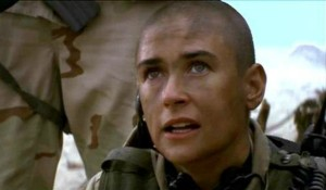 gi jane workout shaving her head