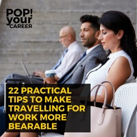 Do you love travelling for work or do you die inside a little every time your boss announces another trip? I am firmly in the middle. To make travelling for work more bearable (for both of us!) I created this post! ~ Pop Your Career