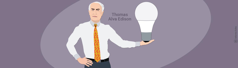 Grla za žarnice in sijalke / Edison / PorabimanjINFO / Ilustracija: Branko Baćović