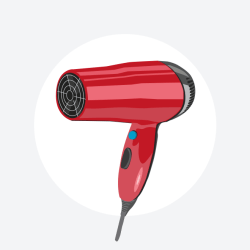 Enota Decibel (dB) - 90 db - Sušilec za lase / Porabimanj INFO