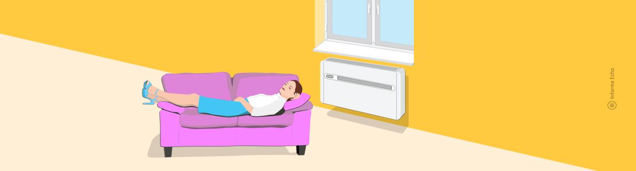 Kako deluje klimatska naprava brez zunanje enote / PorabimanjINFO / Ilustracija: Branko Baćović