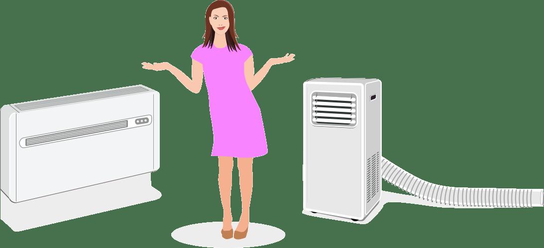 Prednosti in slabosti klimatske naprave brez zunanje enote / PorabimanjINFO / Ilustracija_ Branko Baćović