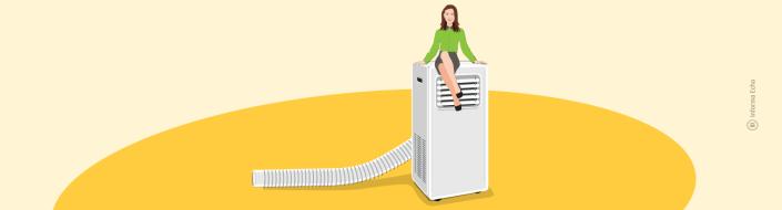 4 prednosti prenosne klimatske naprave / Porabimanj INFO / Ilustracija: Branko Baćović