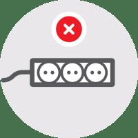 Ni priporočljivo uporabljati podaljškov / PorabimanjINFO