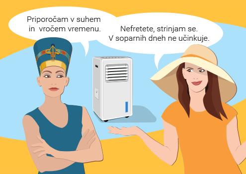 Evaporativna hladilna naprava - prednosti in slabosti / Porabimanj INFO / Illustracija: Branko Baćović