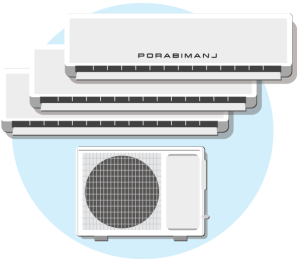 Multi-spli klimatska naprava / PorabimanjINFO / Ilustracija: Branko Baćović