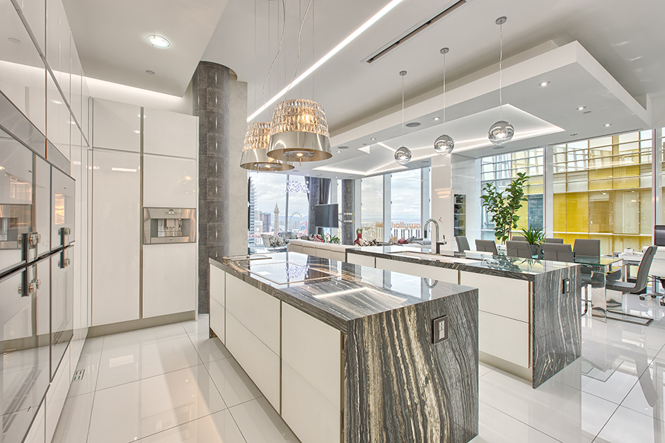 Dugally Penthouse Kitchen NV Porcelanosa