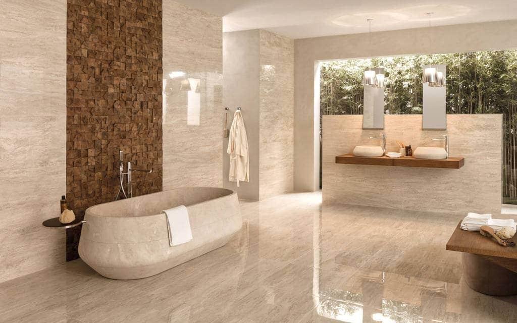 carrelage imitation marbre mur effet