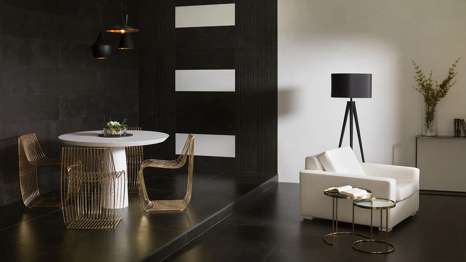 grupo real homes living rooms designed by porcelanosa group