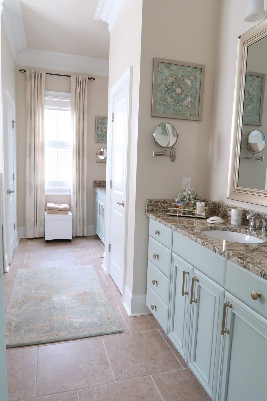 Don t paint your cabinets white porch daydreamer a - Type of paint for bathroom cabinets ...