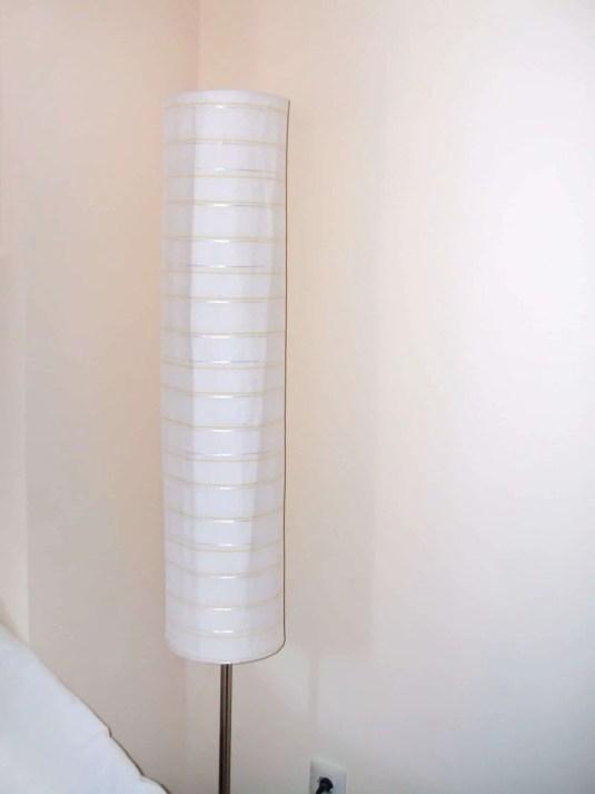 Pantalla de lámpara forrada