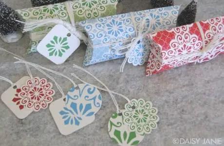 Cajitas de almohada para pequeños regalos