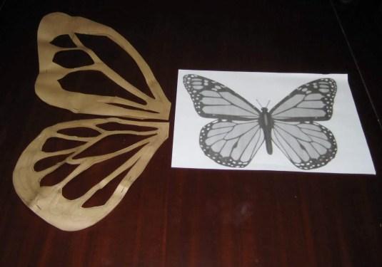 Plantilla disfraz mariposa
