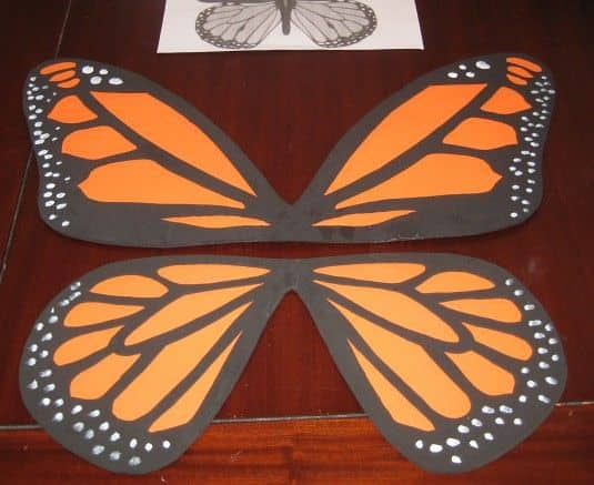 alas disfraz de mariposa