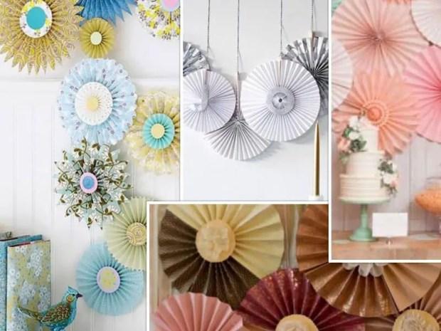 Decorando con rosetones de papel