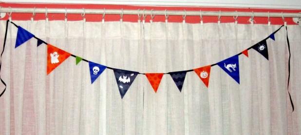 Imprimibles gratis para Halloween: Guirnalda de banderines