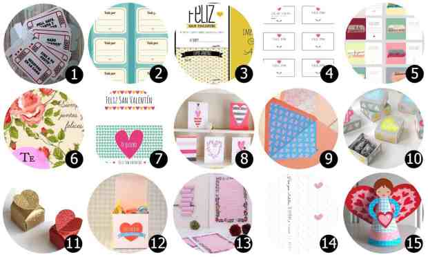 15 Imprimibles gratis para San Valentín