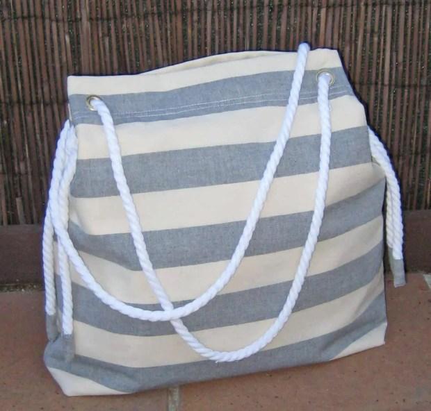 Cómo coser un bolso playero de estilo marinero