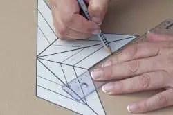 Dibujamos la plantilla en cartón