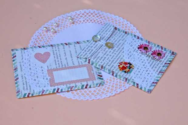 Cómo hacer un sobre bonito para regalar dinero en una boda