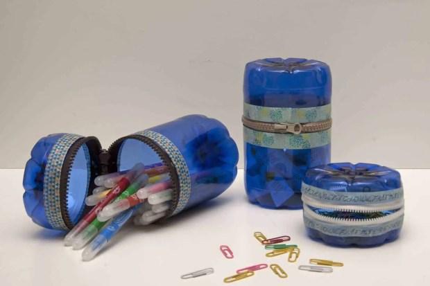 Reciclaje de botellas de plástico para hacer envases