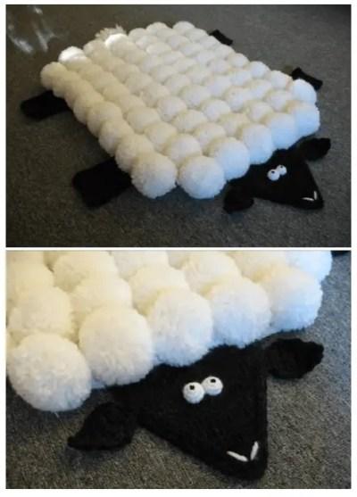 Manualidades para hacer con pompones de lana for Alfombras hechas con lana