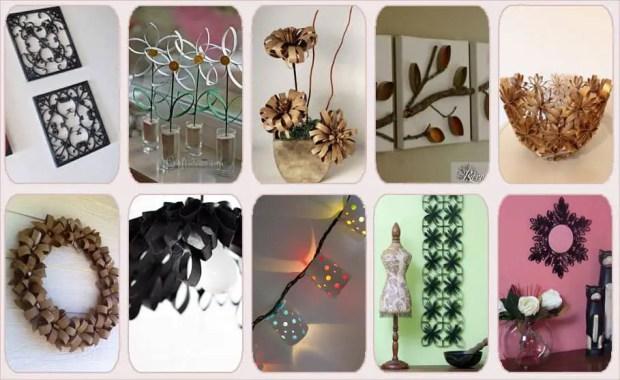10 objetos decorativos que puedes hacer con tubos de cartón