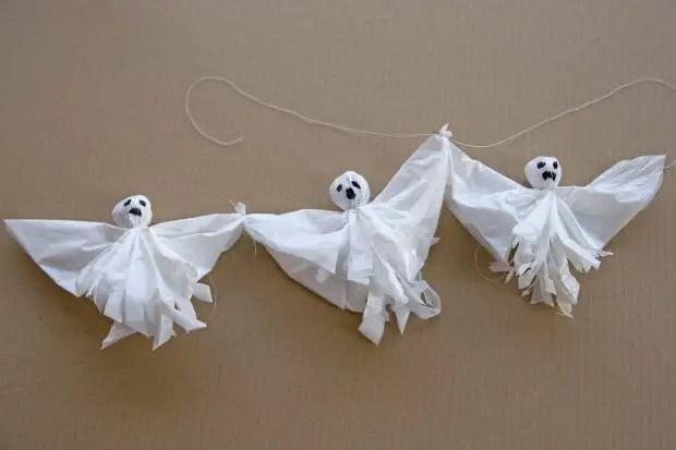 Guirnalda fantasmas halloween