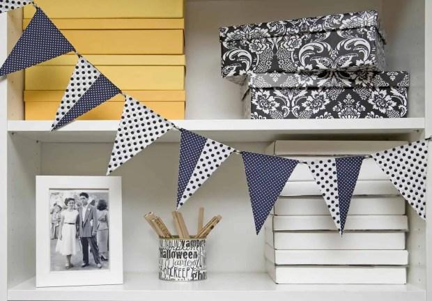 DIY: guirnalda de banderines con tela adhesiva