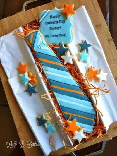 galleta con forma de corbata para el dia del padre