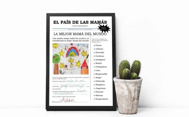 Día de la Madre -Lámina para imprimir gratis