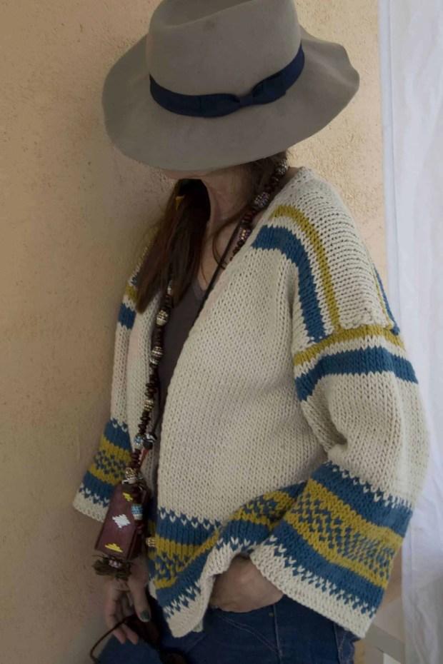 Cómo tejer una chaqueta de algodón para mujer