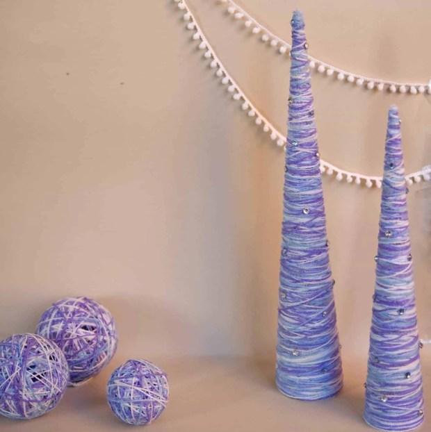Cómo hacer árboles de navidad con lana