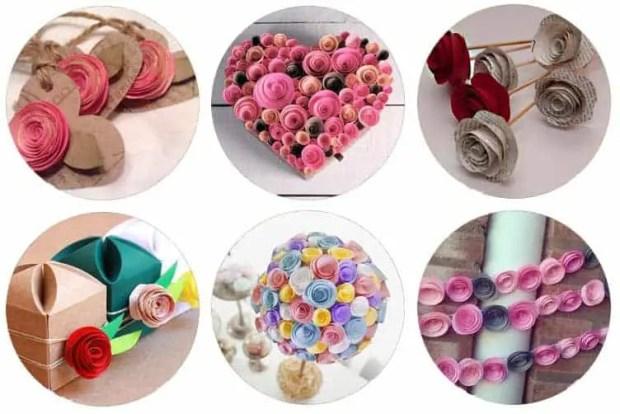 Cómo hacer flores sencillas de papel para San Valentín
