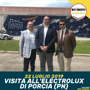 OGGI IN VISITA ALL'ELECTROLUX