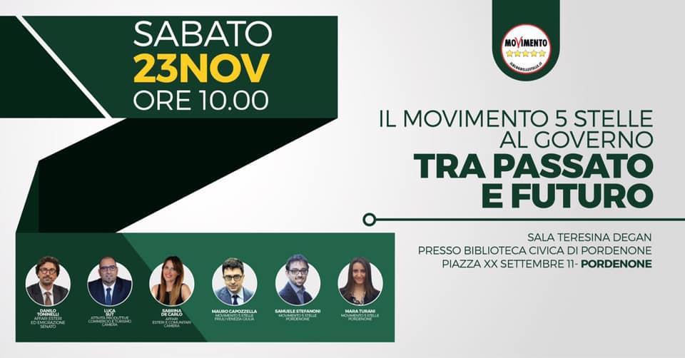 You are currently viewing Il MoVimento 5 Stelle al Governo tra passato e futuro. Con  DANILO TONINELLI