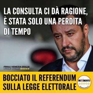 Read more about the article Bocciato il referendum sulla legge elettorale voluto dalla Lega